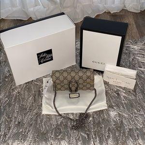 Authentic Gucci Dionysus GG Supreme Super Mini Bag